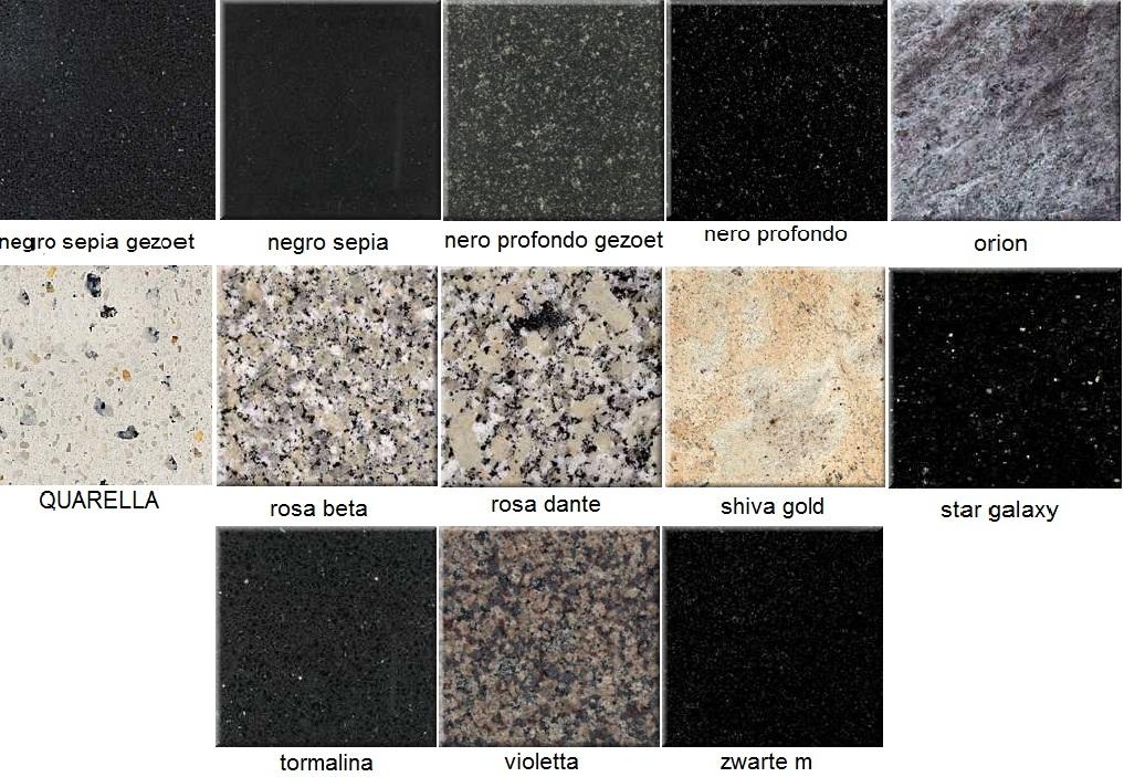 Graniet keukenblad kleuren